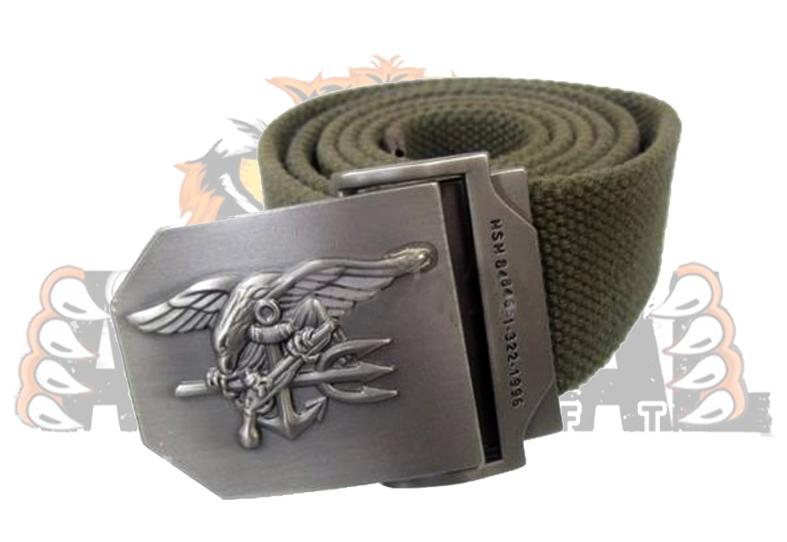 Cinturón Navy Seal buckle natural _ color OD