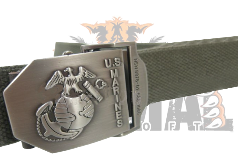Cinturón U.S.Marine Corps buckle natural _ color OD