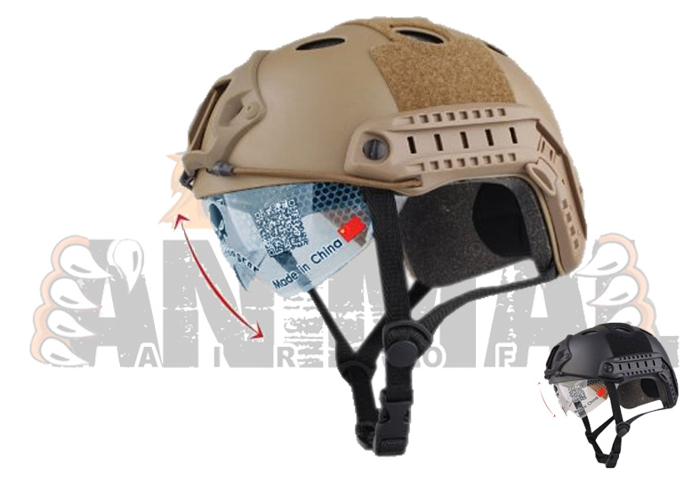 Casco Protector Ocular retractil